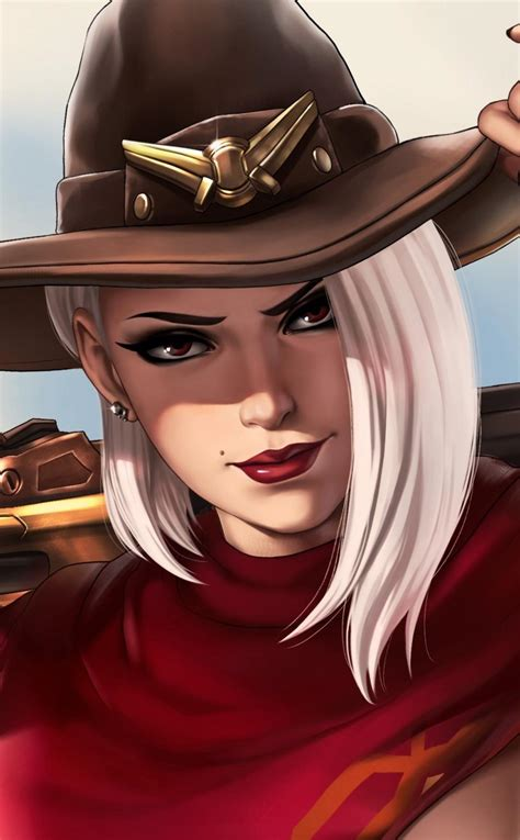 Ashe, Overwatch, 4K, click image for HD Mobile and Desktop